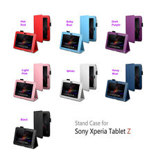 "Folding Folio Leather Smart Cover Case Stand for 10.1"" Sony Xperia Tablet Z New"