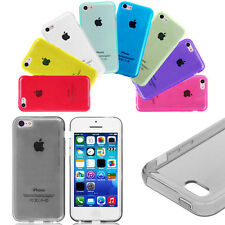 Soft TPU Gel Silicon Rubber Clear Case Cover Skin For Apple iPhone 5C - UK