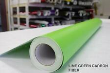 Carbon Fiber Lime Green Vinyl Film Bubble-Free Wrap Exterior Car Bike Boat
