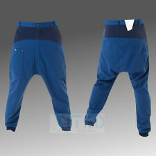 MENS CHINOS BLUE RAY DROP CROTCH TAPERED JOGGER TROUSER PANTS – ELECTRIC BLUE
