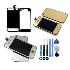 iPhone 4/4S Full Conversion Kit LCD Digitizer and Back Cover Gold Silver Clear