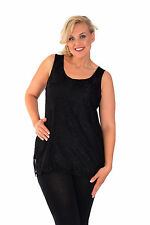 New Womens Sexy Bow Back Lace Lined Tunic Top Nouvelle Ladies Plus Size