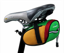 Bike Bicycle Saddle Rear Seat Bag w/Elastic Tail Buckle for Key Purse Cellphones