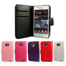 WALLET PU LEATHER FLIP CASE COVER FOR THE SAMSUNG GALAXY S2 I9100 !!