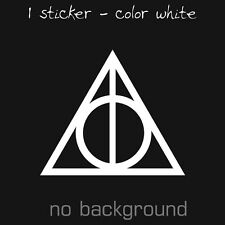 HARRY POTTER Sticker Decal Vinyl Deathly Hallows Symbol Magic Car Window Truck