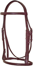 Raised Leather English Hunt Bridle with reins