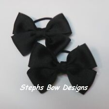 LOT 2 CUTE SOLID BLACK PIGTAIL HAIR BOW SET HALLOWEEN CHRISTMAS SET So CUTE on