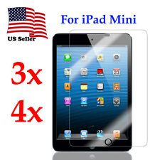 3X 4X Ultra Crystal SCREEN PROTECTORS Shield Guard Film for Apple iPad Mini