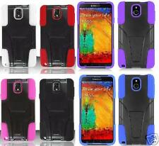 Samsung Galaxy Note 3 III N9000 N9005 SM-N900V Case T-Stand + SCREEN PROTECTOR