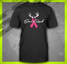 SAVE A RACK BREAST CANCER AWARENESS PINK RIBBON MONTH T-SHIRT TEE