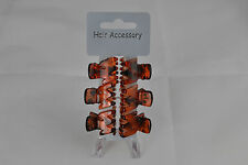 6 x Mini Hair Claw Clips Tort Brown Or Black