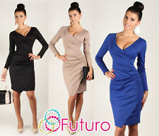 HIT  ☼ Very Elegant Wiggle Dress ☼ V-Neck Pencil Party Formal Sizes 8 -18 FA222
