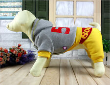 Pet Dog Cat Puppy Cute Warm Dog Clothes Coat For Autumn Apparel Yellow/Blue