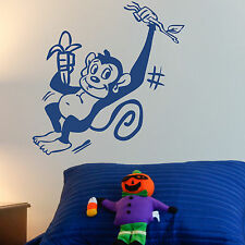 MONKEY, LARGE WALL STICKER, Kids, Cartoon, Decal, WallArt, SS944