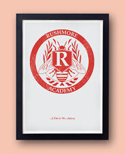 Rushmore Academy Crest Poster - Original print inspired by the Wes Anderson film