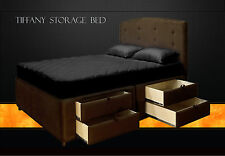 King Storage Bed Frame with drawers / King Platform Bed / Hand Crafted Bed
