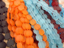 2 Strands • 17x21mm Sea Glass 2 Hole Oval Double Strand Beads • You Pick Color