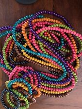 Beautiful colourful wooden bead necklace / bracelet sets