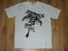 "Mens PEPE JEANS LONDON  ""STREET BLUES"" White T-Shirt Skull/Guitar Graphic"