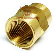 Female NPT FPT FIP Brass Coupler Water Air Gas Fuel Pipe Union Connector Fitting
