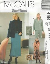 McCall's 4196 Misses'/Miss Petite Unlined Jackets, Pants And Skirts