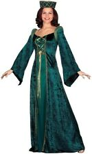Ladies Women Medieval Court MILADY in Waiting Halloween fancy dress costume