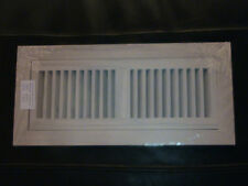 Flush mount oak grill, wood floor register vent. 4x14
