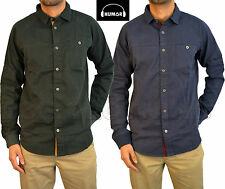Mens Designer Humor Jeans Long Sleeve Shirt In 2 Colours Smart Casual Cuffed Hem