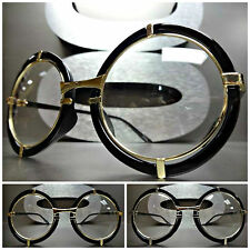 Mens or Women VINTAGE RETRO NERD CLUB Clear Lens EYE GLASSES Round Fashion Frame