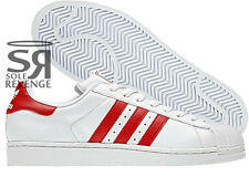 separation shoes 6b6f5 500f2 New 14 adidas Originals SUPERSTAR 2.0 White Light Scarlet Red Shoes Trainers