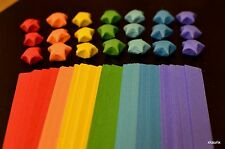 Origami Lucky Paper Star Strips/Ribbons RAINBOW COLORS - US Seller, Ship Fast!
