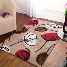Inspire Rugs - Fifties Floral Chocolate & Red