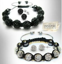 Balla Crystal Bracelet and Earrings Set Made with Swarovski Crystals