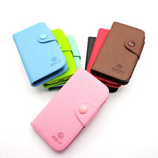 Luxury Card Flip Wallet Leather Case TPU Cover For S7500 GALAXY Ace Plus Samsung