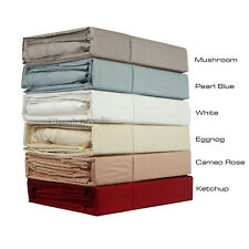 Bamboo and Egyptian Cotton Sateen Sheet set 400TC - QUEEN KING + SUPER SIZES