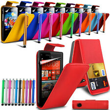 PU Leather Flip Skin Case Cover, Stylus Touch Pen & SP for Various Mobile Phone