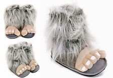 Mens Grey Bigfoot Funny Novelty Slippers Size 7 to 12 UK - XMAS CHRISTMAS GIFT