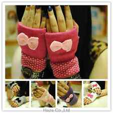 NEW PAIR OF LADIES/WOMENS Fashion armer wool  Knitted bow Gloves HOT SAL