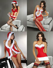 Sexy Lingerie Santa's  Christmas Costume Fancy Dress Colection LivCo S/M , L/XL