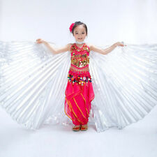 New Girl Kids Belly Dance Costume Children's Isis Wings Silver & Gold 2 colors
