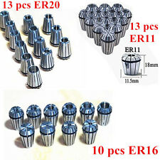 ER20  ER11 ER16 10/13PCS Spring Collet Set For CNC milling Engraving machine dls