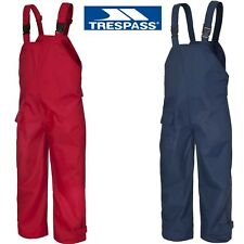 KIDS WATERPROOF DUNGAREES RAIN OVER TROUSERS CHILDRENS BOYS OR GIRLS 12m to1Oyrs