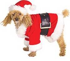 Christmas Santa Claus Dog Suit Belt and Hat Smll to Medium NWT