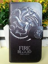 FIRE AND BLOOD beast Dragon Game of Thrones leather flip case cover for Lenovo 2