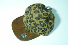 Wool Leopard Print 5 Panel Faux Leather Snapback Cadet Cap Hat  winter style 1