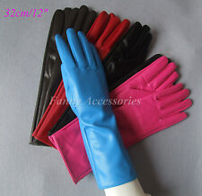 """Opera Dress Party Costume Faux Leather PU Long Gloves Below Elbow 12""""/32cm"""