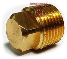 Male NPT MPT MIP Brass Square Head Air Water Gas Fuel Oil Pipe Plug Fitting