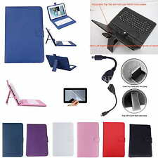 "Colorful Keyboard PU Leather Case+Free Film For 10.1"" iRulu Android Tablet PC"