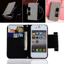 Wallet Card Holder PU Leather Phone Flip Case Cover for iPhone/Samsung Galaxy S3