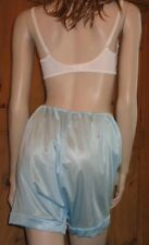 SIZES 14 16 18 20 22 & 24 SHINY BLUE MYLESTA SENSUAL KNICKERS LOOSE FIT PANTS